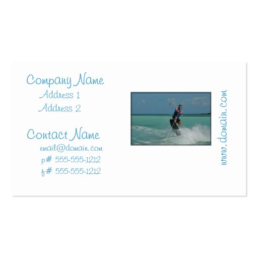 Tropical Wakeboarding Business Cards