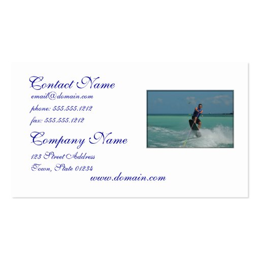 Tropical Wakeboarding Business Card Template