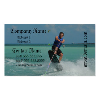 Tropical Wakeboarding Business Card Templates