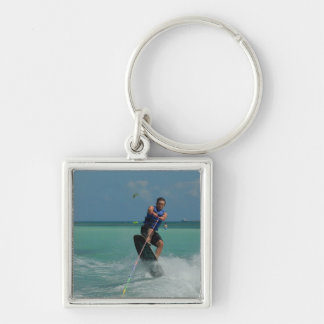 Tropical Wakeboarding Key Chain