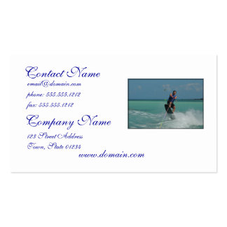 Tropical Wakeboarding Pack Of Standard Business Cards