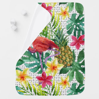Tropical Watercolor Baby Blanket