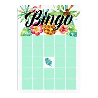 Tropical Watercolor Bingo Cards