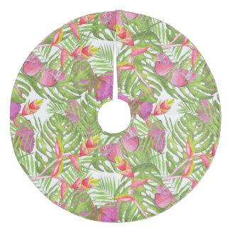 Tropical Watercolor Fleece Tree Skirt