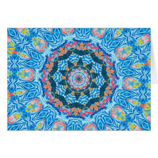 Tropical Watercolor kaleidoscope Card