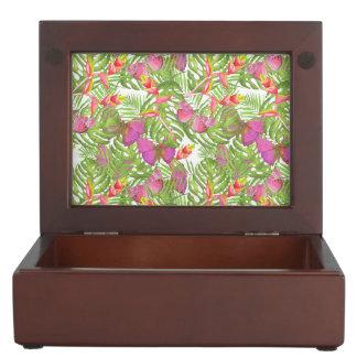 Tropical Watercolor Keepsake Box