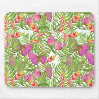 Tropical Watercolor Mouse Pad