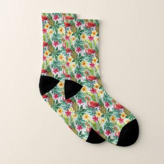 Tropical Watercolor Socks