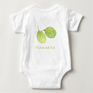 TROPICAL WATERCOLOUR FOLIAGE MONOGRAM TEAM BRIDE BABY BODYSUIT