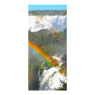 Tropical Waterfall With Rainbow Rack Card