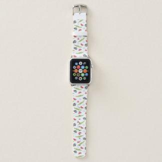 Tropical Watermelon & Crocodile Pattern Apple Watch Band
