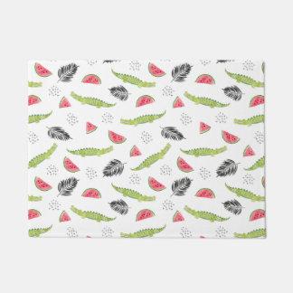 Tropical Watermelon & Crocodile Pattern Doormat