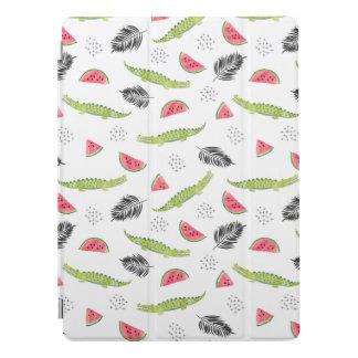 Tropical Watermelon & Crocodile Pattern iPad Pro Cover