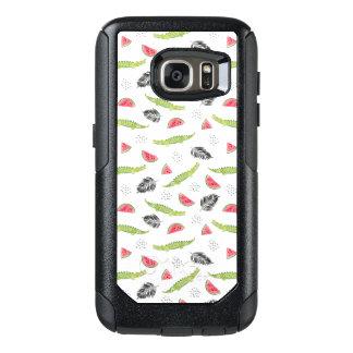 Tropical Watermelon & Crocodile Pattern OtterBox Samsung Galaxy S7 Case