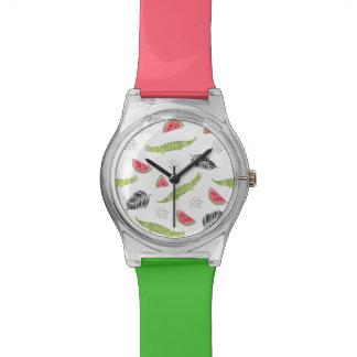 Tropical Watermelon & Crocodile Pattern Watch