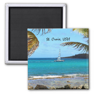Tropical Waters and Sailboat Magnet