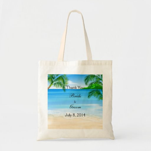 Tropical Waters Beach Wedding Thank You Bags