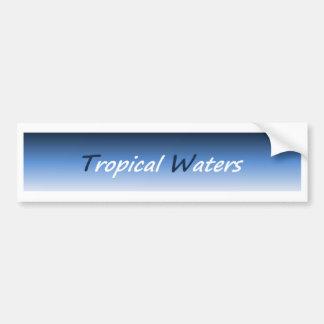 Tropical Waters Bumper Sticker 01 Car Bumper Sticker