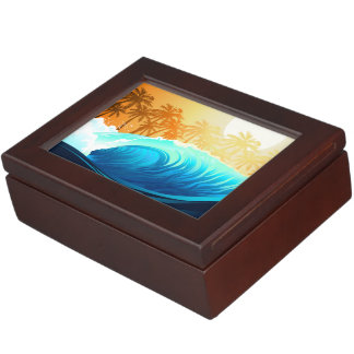Tropical wave at sunrise keepsake box
