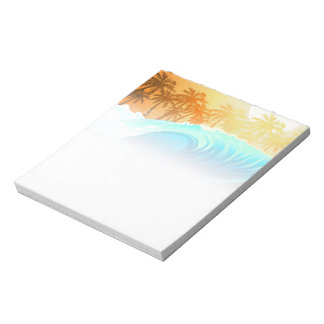 Tropical wave at sunrise notepad