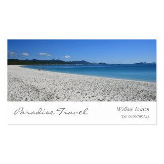 Tropical White Beach Travel Business Card