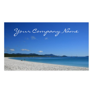 Tropical White Sand Beach - Travel Business Cards