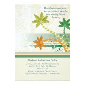 Tropical Winds Post Wedding Brunch Invitation
