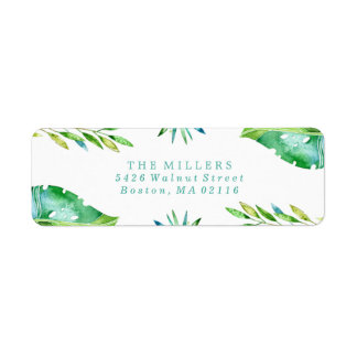 Tropical Wishes | Holiday Return Address Label