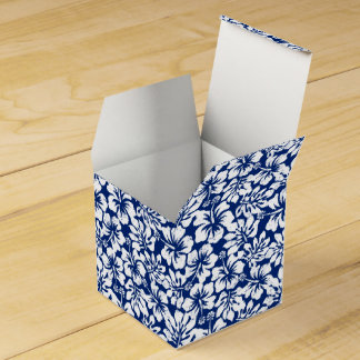 Tropical worn white hibiscus favour box