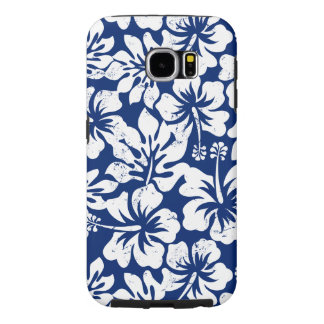 Tropical worn white hibiscus samsung galaxy s6 cases