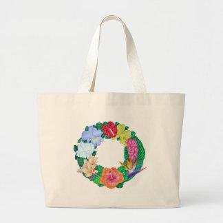 Tropical Wreath Large Tote Bag