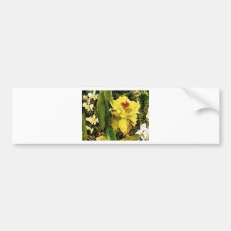 Tropical Yellow Flower Bumper Sticker