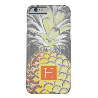 Tropical Yellow Pinneapple on Grey Barely There iPhone 6 Case
