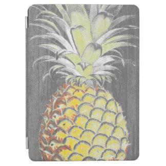 Tropical Yellow Pinneapple on Grey iPad Air Cover