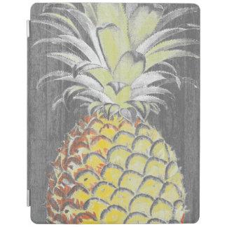 Tropical Yellow Pinneapple on Grey iPad Cover