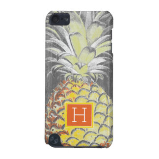 Tropical Yellow Pinneapple on Grey iPod Touch 5G Covers