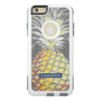 Tropical Yellow Pinneapple on Grey OtterBox iPhone 6/6s Plus Case