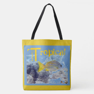 Tropical Yellow Striped Fish Tote Bag