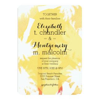 Tropical Yellow Wedding Invite
