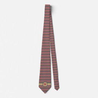 Tropical Zigzag Men's Neck Tie