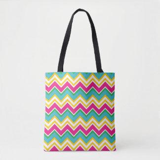 Tropical Zigzag Tote Bag