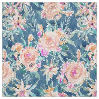 TROPICATED Dark Tropical Hibiscus Hawaiian Floral Fabric