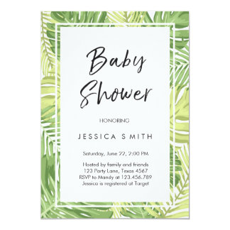 Tropics Baby Shower Invitation Tropical Hawaii