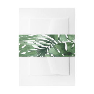 Tropics Belly Band Invitation Belly Band