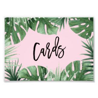 Tropics Cards Print Photographic Print