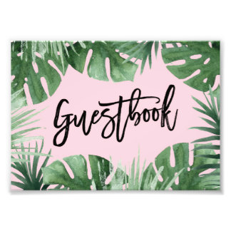 Tropics Guestbook Print Photo Art