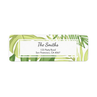 Tropics Return Address Label Tropical Beach Palm