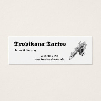 Tropikana Tattoo Mini Business Card