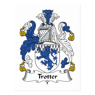 Trotter Family Crest Postcard