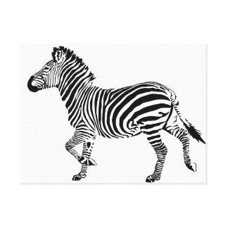 Trotting Burchell's Zebra Canvas Print